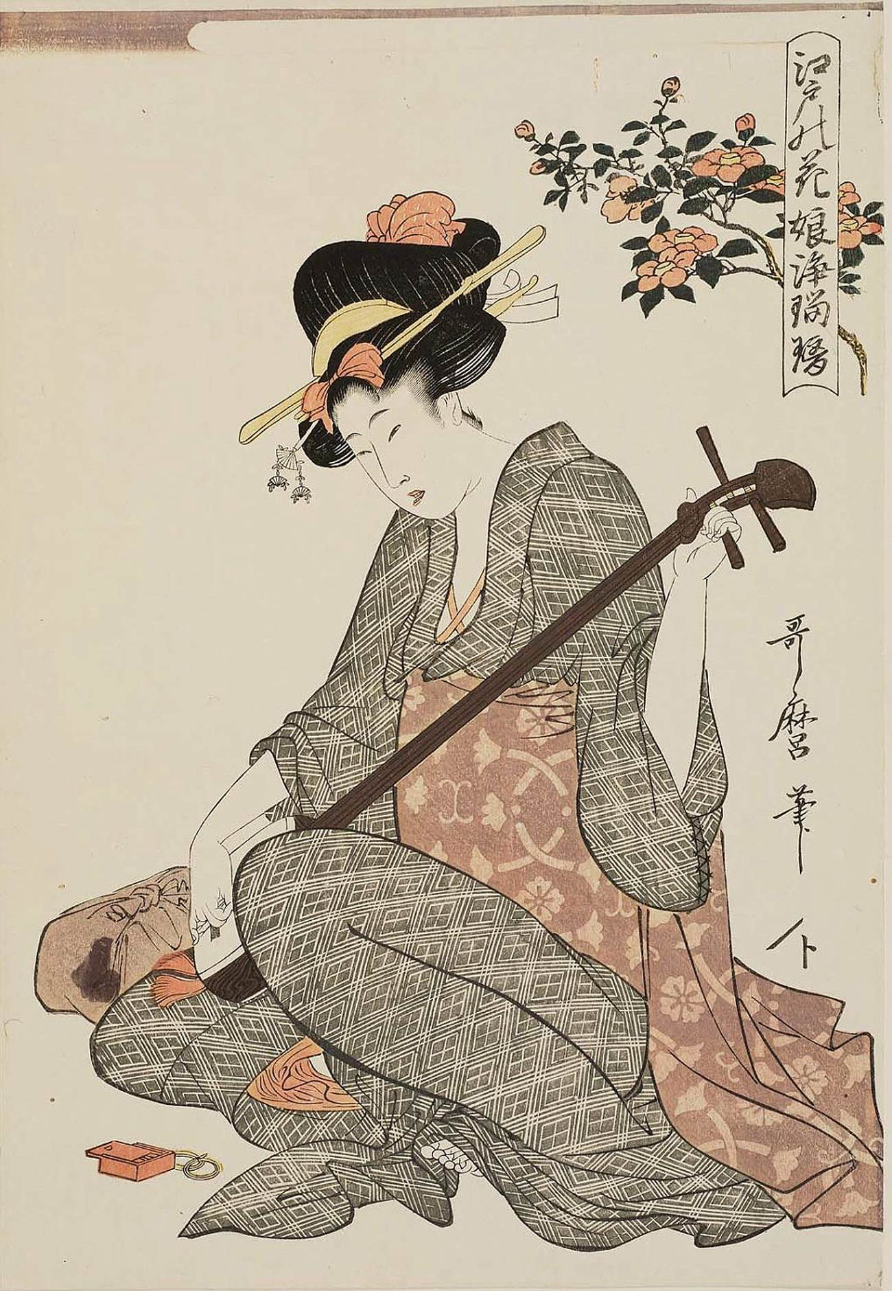 Geisha-Utamaro dans Silhouettes